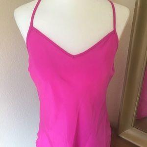 JCrew Silk Cami Pink XS